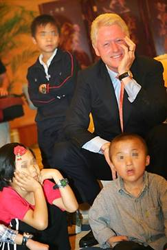 President Clinton made a special trip to Henan Province in China