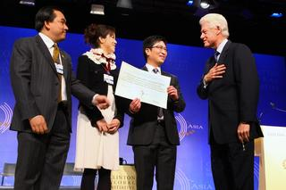 Chi Heng Foundation's Program for AIDS Orphans  recognized by Former President Bill Clinton in Hong Kong